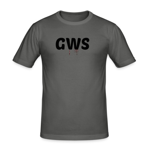 GWS blood loga - Slim Fit T-shirt herr