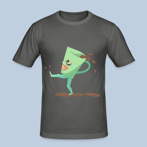 crying cup - Slim Fit T-shirt herr