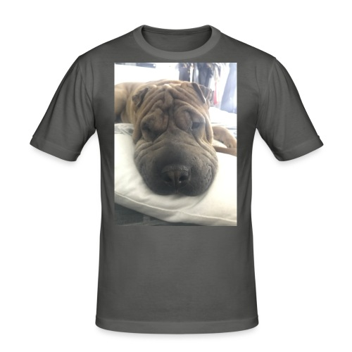 Closeup Shar-pei - Men's Slim Fit T-Shirt