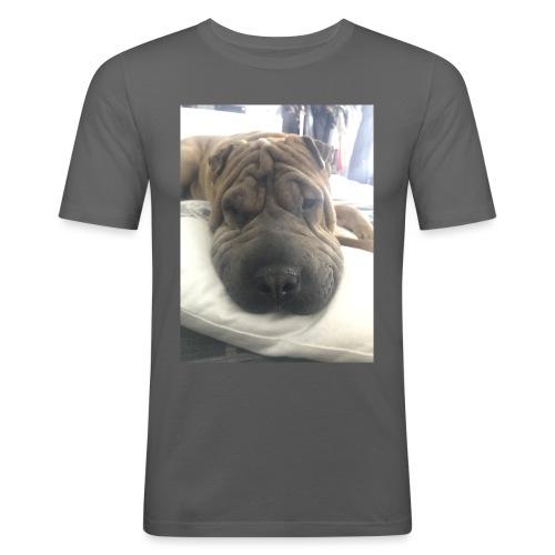 Closeup Shar-pei - Men's Slim Fit T-Shirt