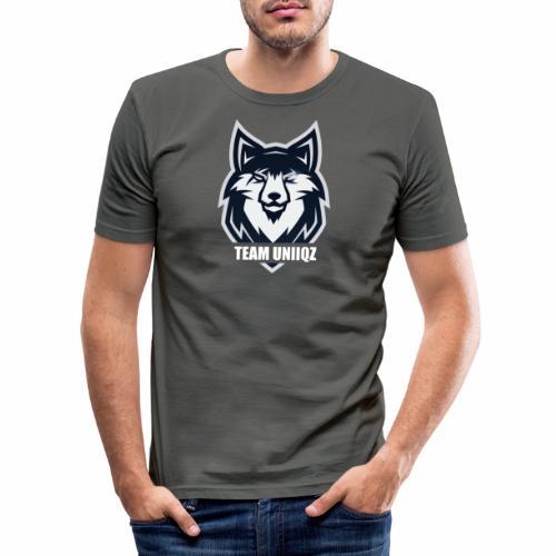 Team Uniiqz Logo - Männer Slim Fit T-Shirt