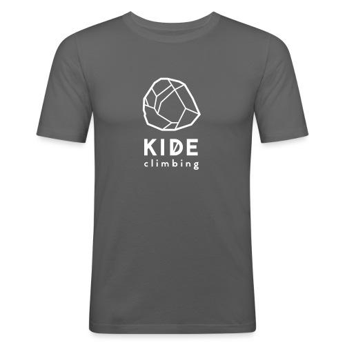 kide logo - Miesten tyköistuva t-paita