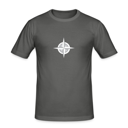 Compass Heart - Men's Slim Fit T-Shirt