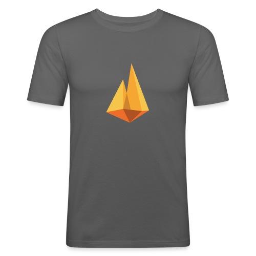 Kampvuur logo - Mannen slim fit T-shirt