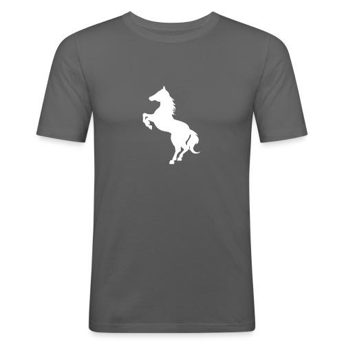 Dame T-Shirt M. Hvidt Logo - Herre Slim Fit T-Shirt