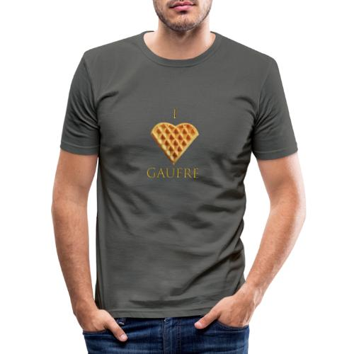 i love gaufre - T-shirt près du corps Homme