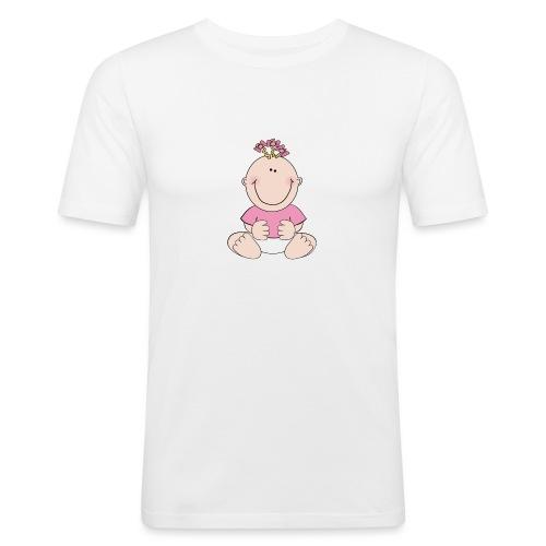rompertje meisje - Mannen slim fit T-shirt