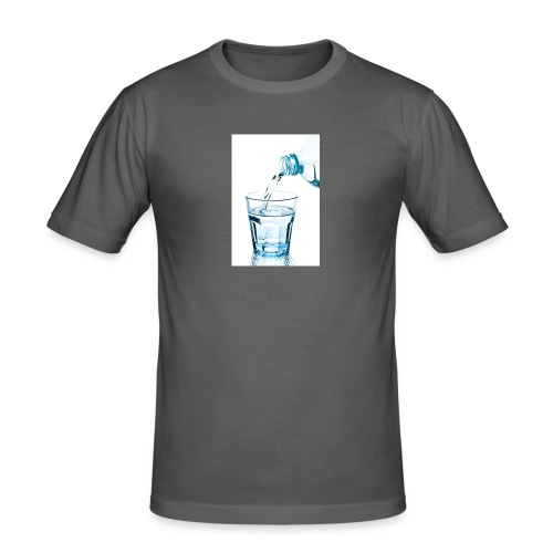 Glas-water-jpg - Mannen slim fit T-shirt