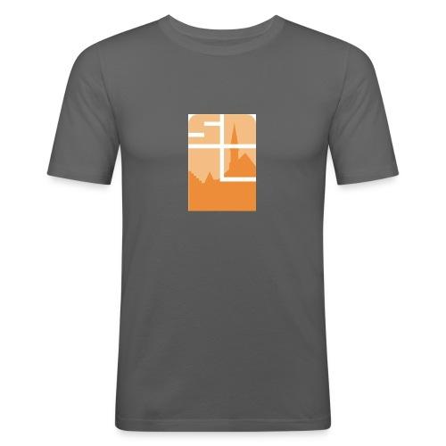 Logo-VZW-Sint-Lodewijk-jpg - Mannen slim fit T-shirt
