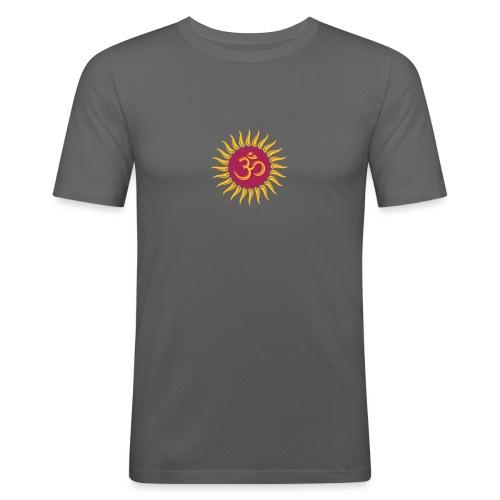 Om Sonne, Buddhismus, Yoga, spirituell, Meditation - Männer Slim Fit T-Shirt
