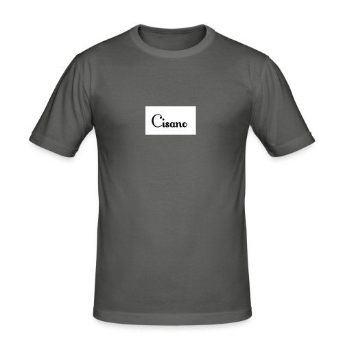 Cisano skrift - Slim Fit T-skjorte for menn
