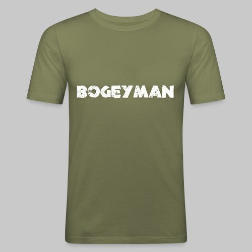 valkoinen - Miesten tyköistuva t-paita