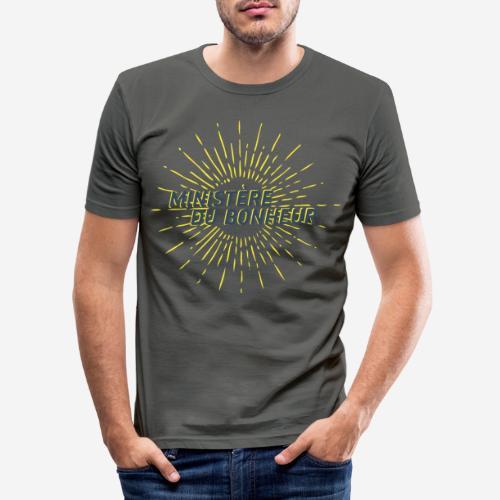 Ministère du Bonheur - T-shirt près du corps Homme