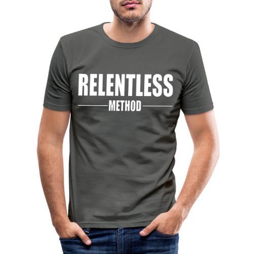 Relentless Method White - Slim Fit T-shirt herr