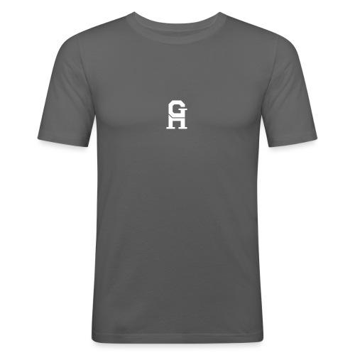 afterlife logo - white - Mannen slim fit T-shirt