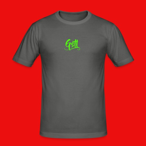 Gstl_Logo_-Green- - Men's Slim Fit T-Shirt