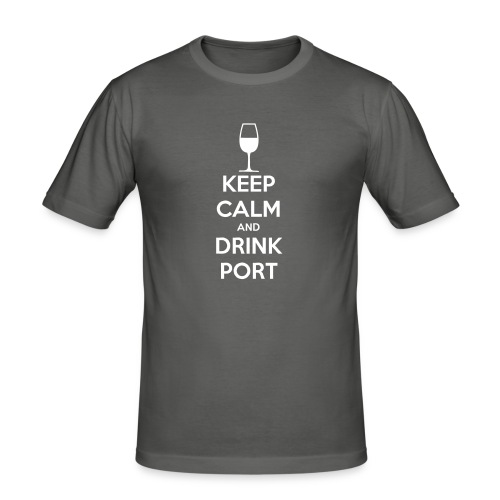 Keep Calm and Drink Port - Men's Slim Fit T-Shirt