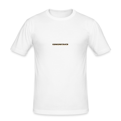 Concentrate on white - Men's Slim Fit T-Shirt