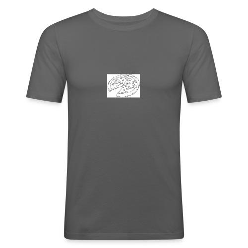 Pizza Kopp - Slim Fit T-skjorte for menn