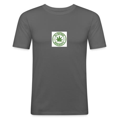 Weed - Mannen slim fit T-shirt