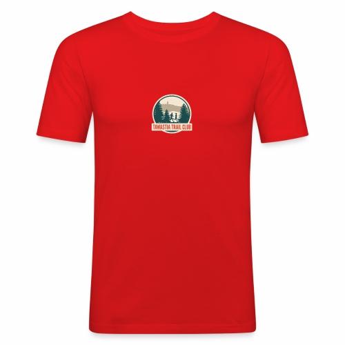 Tawastia Trail Logo - Miesten tyköistuva t-paita
