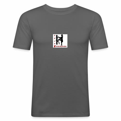 Kungfu Logo - Männer Slim Fit T-Shirt