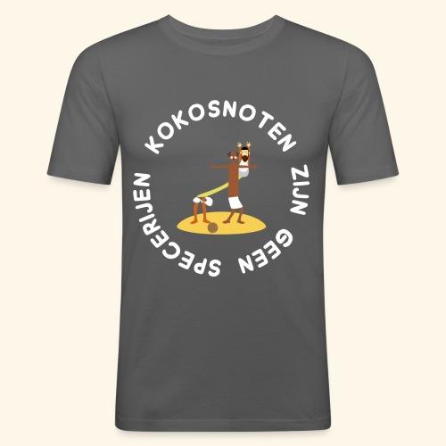 Kokosnoten zijn geen specerijen - Mannen slim fit T-shirt