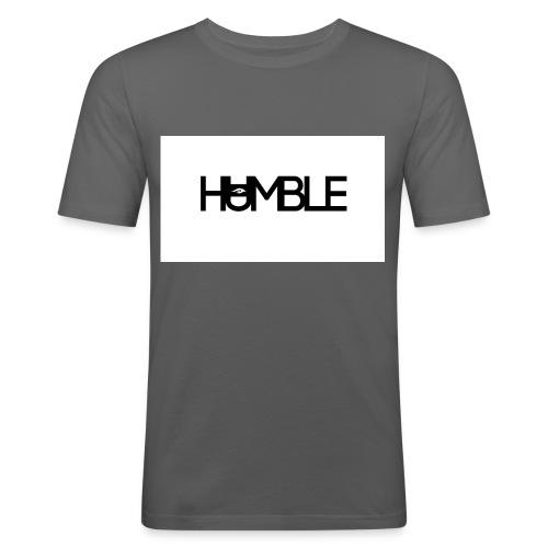Humble logo - Mannen slim fit T-shirt