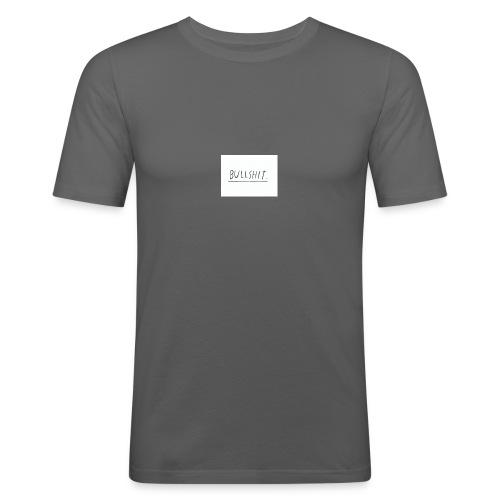 t shirt met tekst 'bullshit' - Mannen slim fit T-shirt