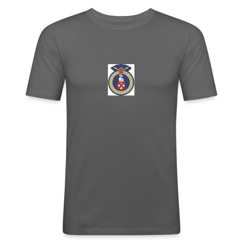 13 Eastleigh Badge White - Men's Slim Fit T-Shirt