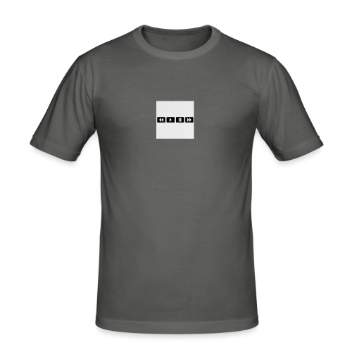 black-rewind-play-pause-forward-t-shirts_design - slim fit T-shirt