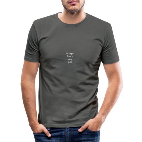Je croque la vie à plein dent - T-shirt près du corps Homme