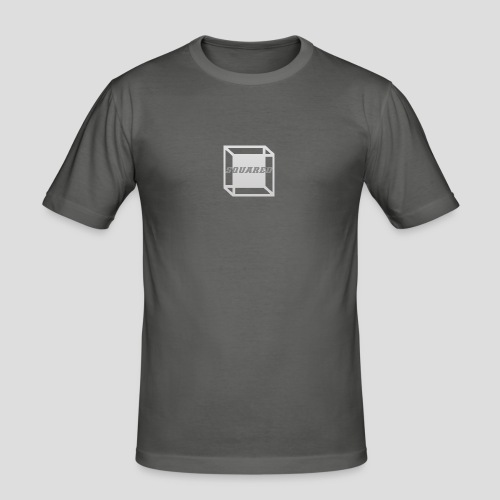 Squared Apparel Logo White / Gray - Men's Slim Fit T-Shirt