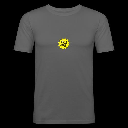 PLSDIE Hatewear - Männer Slim Fit T-Shirt