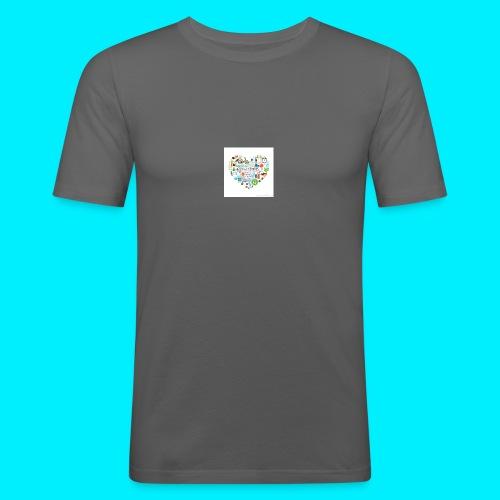 Heart image - Men's Slim Fit T-Shirt