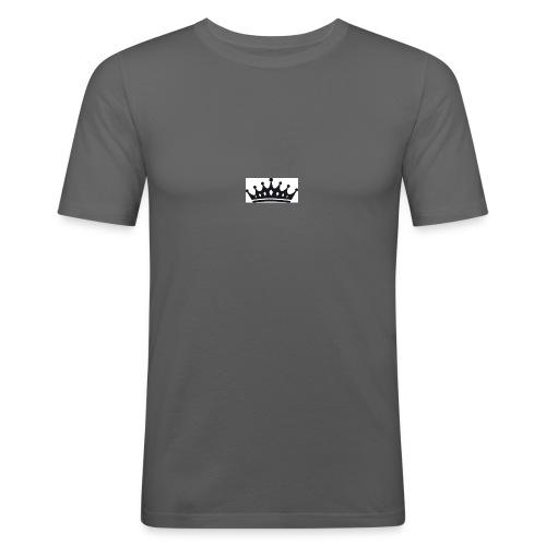krone-2_einzeln - Mannen slim fit T-shirt