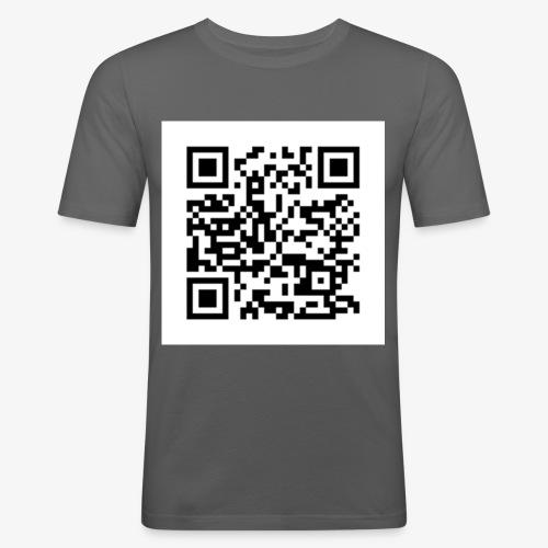 Channel Link QR Code - Men's Slim Fit T-Shirt
