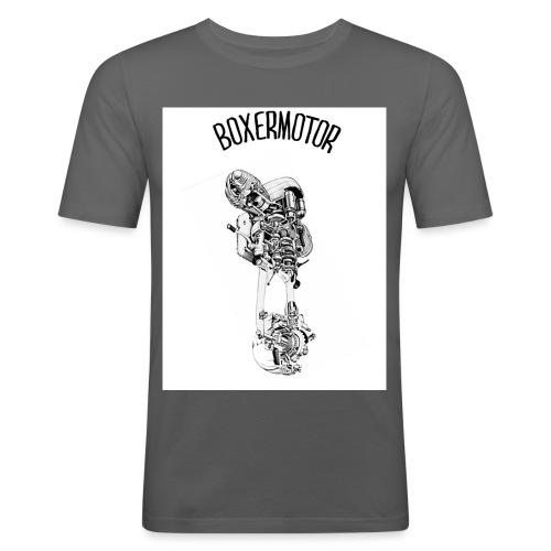 BOXERMOTOR - Maglietta aderente da uomo