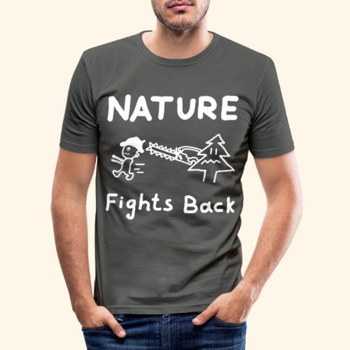 Nature fights back - Männer Slim Fit T-Shirt