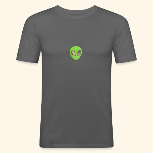 Alien hoofd 1 - Mannen slim fit T-shirt