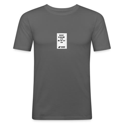 keep calm and boost on - Camiseta ajustada hombre