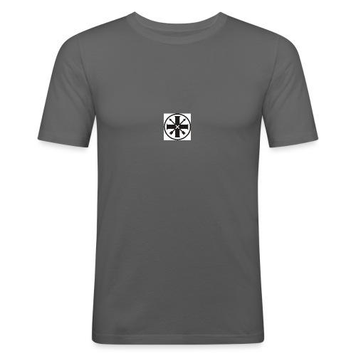 kreuz_schwarz - Männer Slim Fit T-Shirt