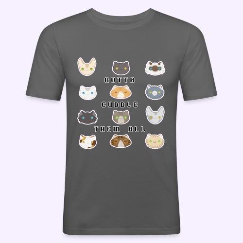 All the Cats - Maglietta aderente da uomo