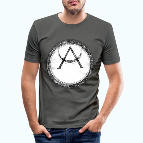 Mystic motif with sun and circle geometric - Men's Slim Fit T-Shirt