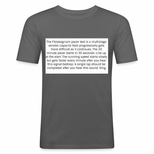 FitnessGram pacer Test - Men's Slim Fit T-Shirt