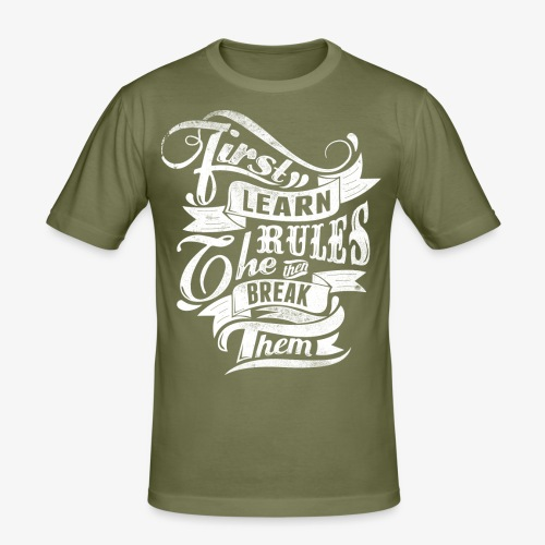 First Learn Rules - Men's Slim Fit T-Shirt
