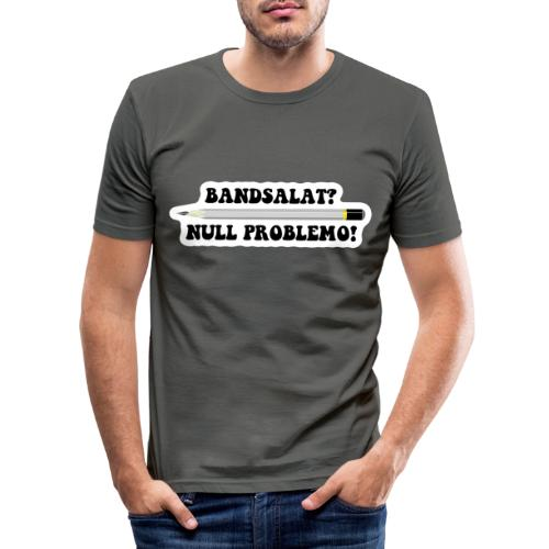 Bleistift Bandsalat Null Problemo 2 - Männer Slim Fit T-Shirt