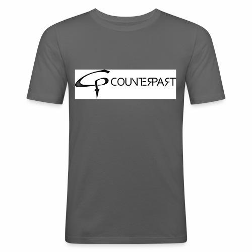 Counterpart Logo b on w - Männer Slim Fit T-Shirt
