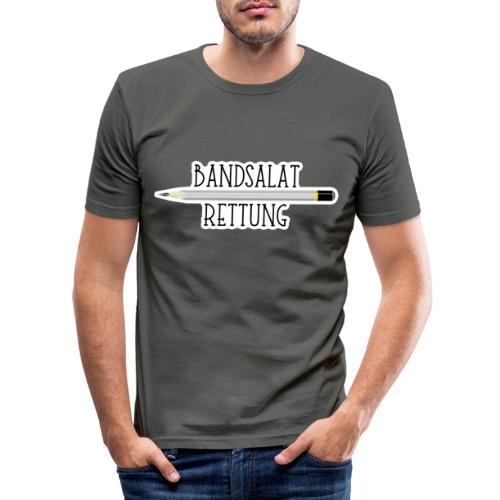 Bleistift Bandsalat Rettung 2 - Männer Slim Fit T-Shirt