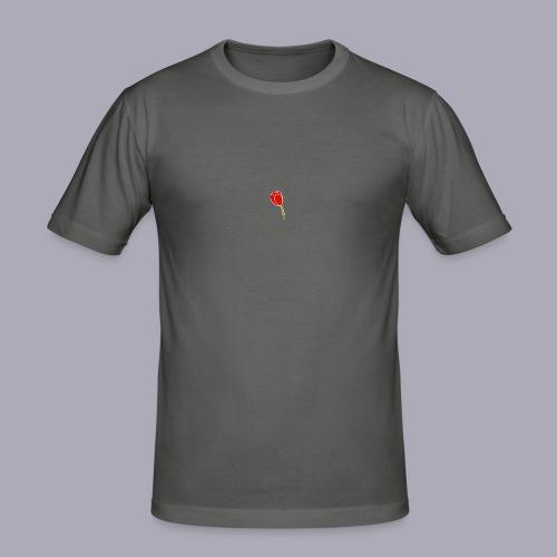 Tulip Logo Design - Men's Slim Fit T-Shirt